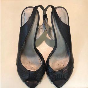Seychelles Black Leather Heels Sz 8